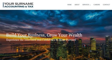 accountant office web design cpa finance website templates