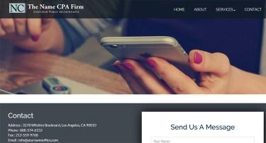 cpa firm web design finance website templates