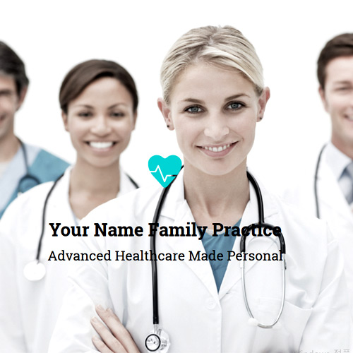 Family Practice Physician Website Design #D161117-FP